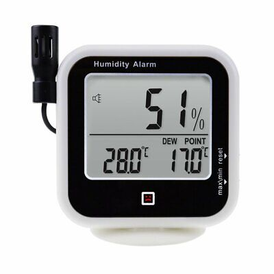 Thermo-Hygrometer -10~60°C Temperature RH Dew Point Wallmount / Desktop w/ Alarm