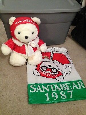 1987 Dayton Hudson Marshall Fields Pilot Santa Bear W/bag
