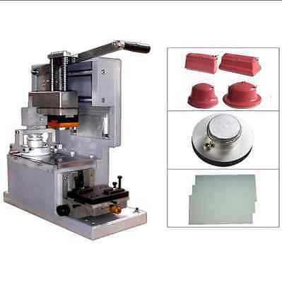 Pad Printing Manual Ink Cup Printer with Stainless Steel Plate & Rubber Pads