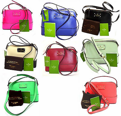NWT Kate Spade Hanna Wellesley or Berkeley Lane Genuine Leather Cross body MINI