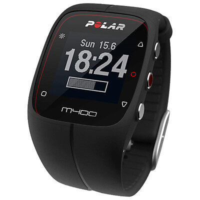 POLAR M400 GPS SPORTS WATCH BLACK New