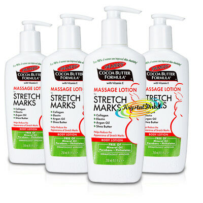4x Palmers Cocoa Butter Formula Massage Body Lotion For Stretch Marks 250ml