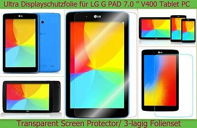 3 x Antireflex Display Schutz Folie LG G Pad Tablet Protector Kratzfest matt SET