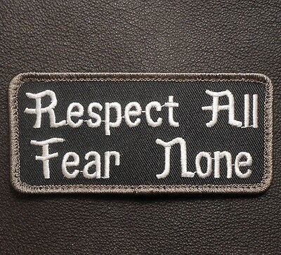 Respect All Fear None Usa Army Military Badge Swat Velcro® Brand Fastener Patch