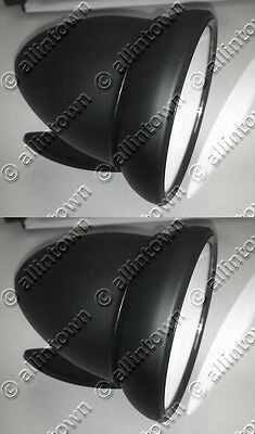 """1960s style Black GT bullet 4"""" racing mirrors"""