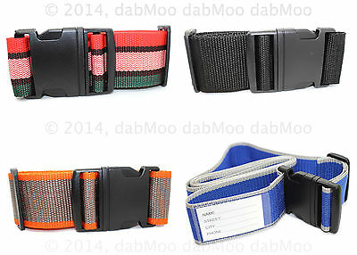 Adjustable Baggage Luggage Strong Strip Suitcase Clip Belt Band Name Tag Strap