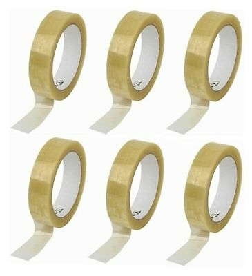 Sellotape ~ 24mm x 66m ~ 6 Rolls ~ ~ ~ clear selotape packing tape cellotape