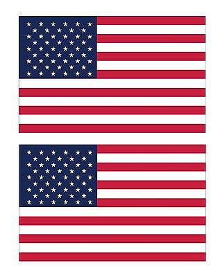 American United States of America Flag decal/stickers set of (2) 2.5x4 FLG1