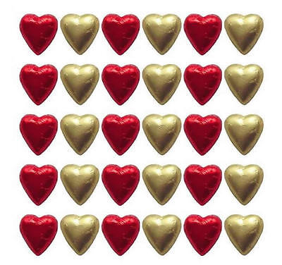 500 Cadbury Chocolate Red And Gold Hearts-Wedding Valentine's Day Gifts Parties