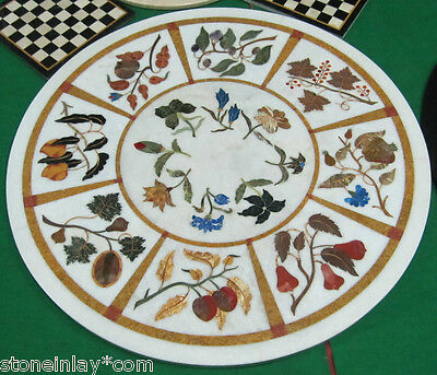 Pietra Dura Marble Inlay Marquetry Mosaic Table Top