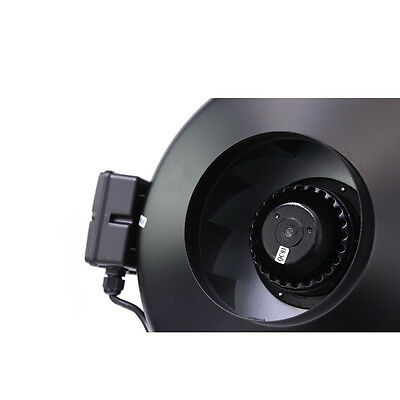 """Centrifugal Exhaust Ventilation Fan - 4"""" 6"""" 8"""" 10"""" 12""""   For Carbon Filter   Inl"""