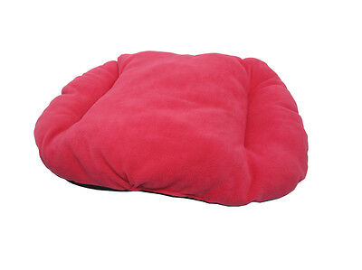 New!!! Small Pink / Fuchsia Fleece Dog /  Cat Bed Cushion For Bottom Of Basket