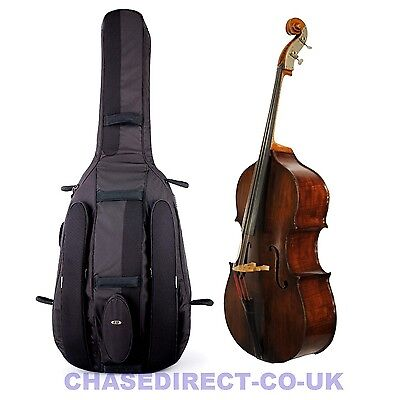 Ritter Classic Double Bass Cello Padded Soft Bag Gig Case Shoulder Straps Black