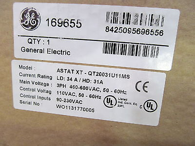 GE General Electric ASTAT-XT Soft Starter QT20031U11MS With Book/CD