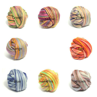 Merino & Bamboo Blend  - Soft Felting + Spinning Wool Tops - Choose From 8 Mixes