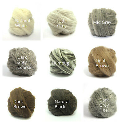 Heidifeathers® Natural Felting Wool Tops - Felting + Spinning - You Choose
