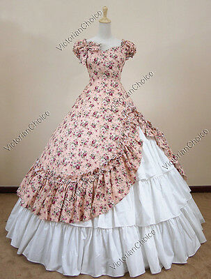Southern Belle Victorian Ball Gown Period Dress Reenactment Theatre Clothing 208