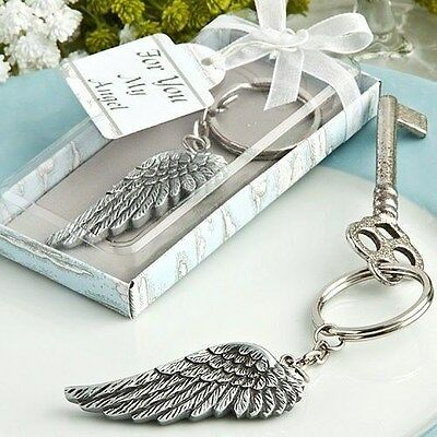 40 Angel Wing Key Chain Shower Favors