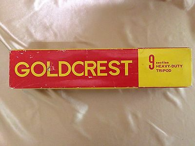 Vintage Goldcrest 9-Section Heavy Duty Tripod - Used in Box