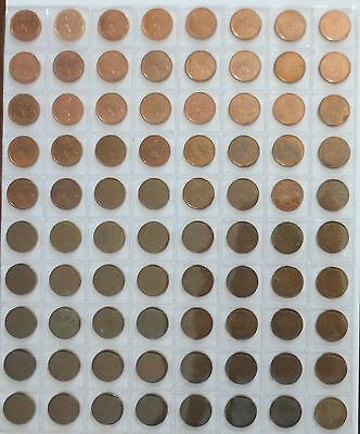 Canadian Coin 1920 to 2012 Penny Lot - 80 Small Cent Near Date Complete 1c Lot