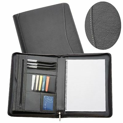 1 New Full Grain Genuine Leather A4 Compendium Express Courier Included Quality