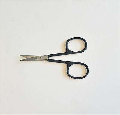 The Edge Nail Straight Nail Scissors Black For Fibreglass Silk Acrylic Uv Gel