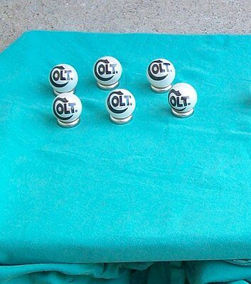 Colt firearms advertising Glass marble Lot of 6 marbles