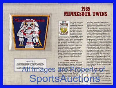 1965 MINNESOTA TWINS Willabee & Ward COOPERSTOWN COLLECTION BASEBALL TEAM PATCH