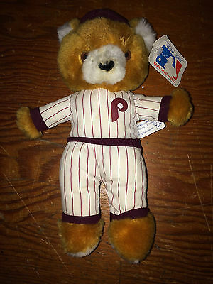 Philadelphia Phillies Vintage 1980's Bear Doll Veterans Stadium - New!