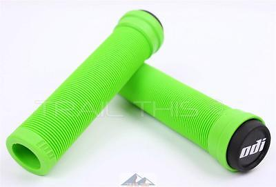 ODI Soft Flangeless Longneck Grips Softies for BMX Bikes & Scooters 135mm GREEN