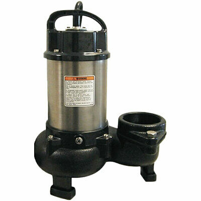 "Tsurumi 12PN - 133 GPM 1 HP (3"") Submersible Stainless Steel Pond/Fountain Pump"
