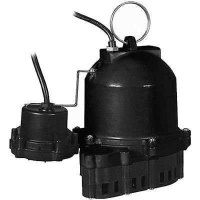 Little Giant ES33D1-10 - 1/3 HP Cast Iron Submersible Sump Pump w/ Diaphragm ...
