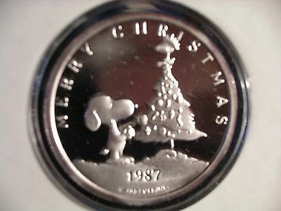 RARITIES MINT 1oz. SNOOPY--PEANUTS SILVER COIN ! ! ! !