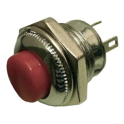 Quality Momentary SPDT Push Button Switch  Red 3Pins