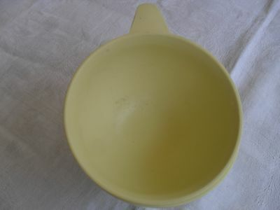 Vintage Boonton Ware Yellow Melamine 1950's Coffee Cup Lot of 2