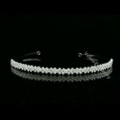 Elegant Bridal Rhinestone Crystal Prom Wedding Tiara Headband 7589
