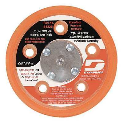 DYNABRADE 54326 Disc Backup Pad, 5 In Dia, HL, 5/16-24EXT