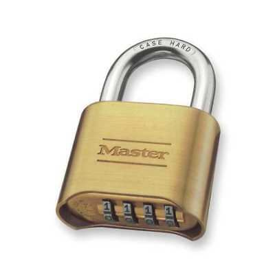 MASTER LOCK 175 Combination Padlock, Bottom, 4 Dial, Silver