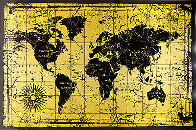 "WORLD MAP OLD STYLE POSTER ""61x91cm OF THE WALL CHART"" NEW Licensed"