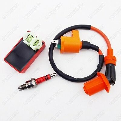 Racing Ignition Coil CDI Spark Plug A7TC For GY6 50cc 125cc 150cc Moped Scooter