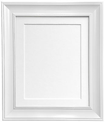 Scandi Vintage White Photo Picture Frames with Mount and Backing Boards