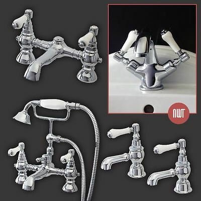 """Dorchester"" Traditional Chrome Taps, Basin Mixers & Deck Mounted Bath Fillers"