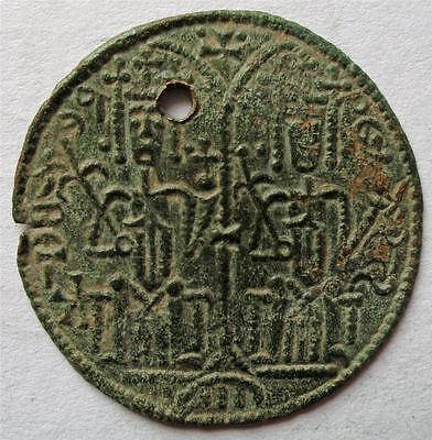 1172-1196 Bela III. of Arpad Medieval Copper Scyphate Cup Coin [5]