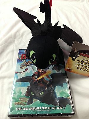 How To Train Your Dragon 2  - DVD 2014 & Toothless Plush Toy- NEW!