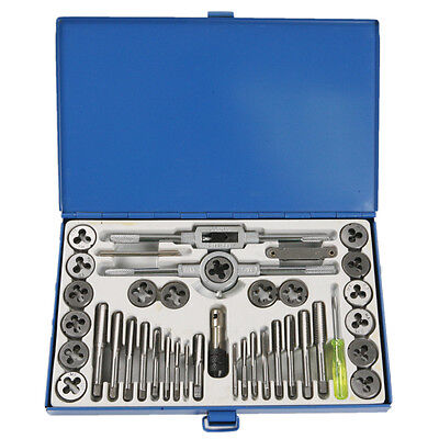 40PCS SAE Imperia Metric Thread Tap & Die Wrenches Screwdriver Combination Set