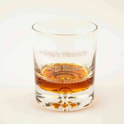Personalised Whisky Glass Dads Measure Glassware Christmas Fathers Day Gifts