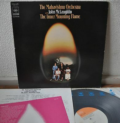 Mahavishnu Orchestra The Inner Mounting Flame Japan LP Sony SOPL 10 Insert