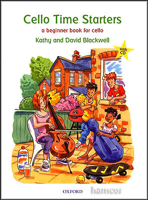 Cello Time Starters Learn How to Play Tutor Method Book/CD Kathy David Blackwell