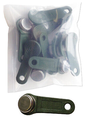 Green Keytabs iButtons for Exaktime Job Site Time Clock