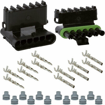 Weather Pack 6 Pin Connector Kit 16-14 GA
